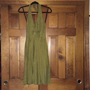 Nicole Miller Collection Olive Green Dress 2